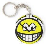 Alarm clock smile   keychains