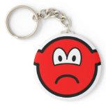 Sad red buddy icon   keychains