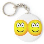Siamese emoticon   keychains