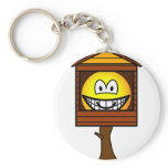 Tree house emoticon   keychains