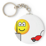 Afstandsbestuurbare auto emoticon   keychains