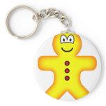 Gingerbread emoticon   keychains