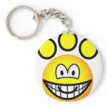 Paw print emoticon   keychains