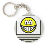 Computer screen smile   keychains