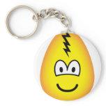 Egg emoticon Cracked egg  keychains