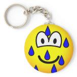 Stressed emoticon   keychains