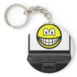 Laptop smile   keychains