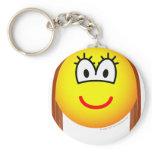 Brunette emoticon   keychains
