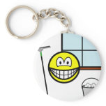 Window cleaner smile   keychains