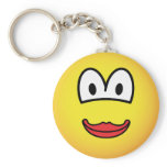 Kissing emoticon   keychains