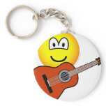 Acoustic guitar emoticon   keychains