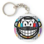 Test pattern smile   keychains