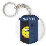 Dr Who emoticon Tardis  keychains