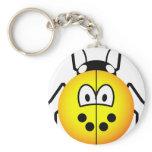 Ladybird emoticon yellow  keychains