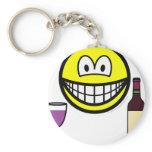Wine drinking smile   keychains