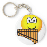 Panflute emoticon   keychains