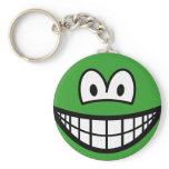 Colored smile green  keychains