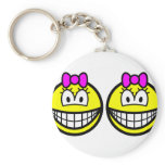 Identical twins smile Girls  keychains