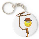 Cowboy lasso emoticon   keychains