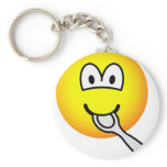Silver spoon emoticon   keychains