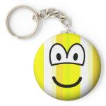 Gestreepte emoticon   keychains