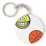 Basketball playing smile   keychains