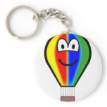 Balloon emoticon Colorful  keychains