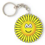 Sunflower emoticon   keychains