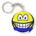 Blue belt smile   keychains