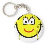 Big hoop earrings buddy icon   keychains