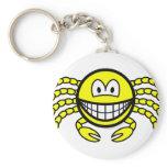 Cancer smile Zodiac sign  keychains