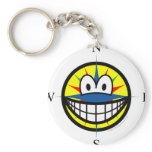 Compass smile   keychains