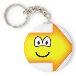 Right emoticon arrow  keychains