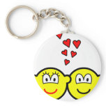 Two Buddy icons in love   keychains