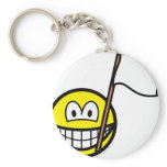 White flag smile   keychains