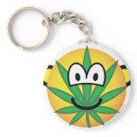Cannabis emoticon   keychains