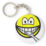 Silver spoon smile   keychains