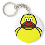 Rubber duck smile   keychains