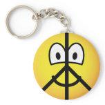 Peace emoticon   keychains