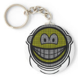 Fencing smile   keychains