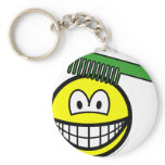 Combing smile   keychains