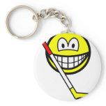 Ice hockey smile puck  keychains
