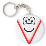 Yield emoticon   keychains
