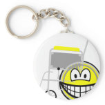 Wheelchair smile Side view  keychains