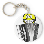 Accordion playing smile   keychains