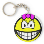 Bow smile   keychains