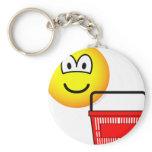 Shopping emoticon Basket  keychains