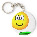 Frisbeeing emoticon   keychains