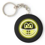 Neon light smile   keychains