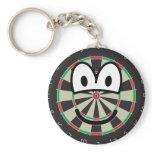 Dartboard emoticon   keychains